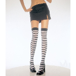 Black & White Stripe Thigh High Tights 100-115411