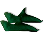 Green Felt Elf Shoes 100-119756