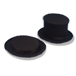 Collapsible Top Hat Black Adult 100-125253