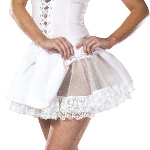 Lace (White) Petticoat Adult  100-127588