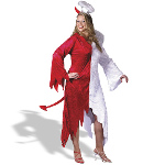 1/2 Devil, 1/2 Angel Adult Plus Costume 100-129728
