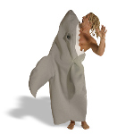 Shark Attack Adult Costume 100-129796