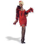 Fashion Flapper (Red)  Adult Costume 100-112818