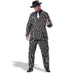 Gangster Adult Plus Costume 100-133037