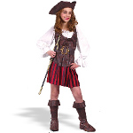 Girl High Seas Buccaneer Child Costume 100-133215