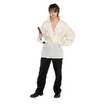Fancy White Pirate Shirt  Adult  100-133263