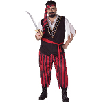 Pirate Adult Plus Costume 100-134078