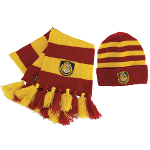Harry Potter Hogwarts Hat and Scarf Set