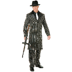 Gangster Suit Long Jacket  Adult Costume 100-135833