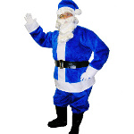 Blue Santa Suit Adult Large Costume 100-135851