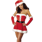 Santa's Sweetie Red  Adult Costume 100-139660