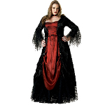 Gothic Vampira Elite Collection Adult Plus Costume 100-139944
