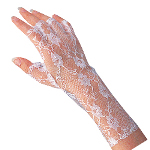 White Lace Gloves 100-142790
