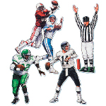 "20"" Football Figure Cutouts (4 count) 100-137762"