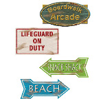 Beach Sign Cutouts (4 count) 100-148458
