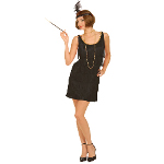 Black Flapper Adult Plus Costume 100-144659