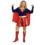 Supergirl Adult Plus Costume 100-145025