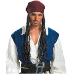 Captain Jack Sparrow Headband With Hair 100-145418