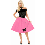 Pink Poodle Skirt Adult Plus Costume 100-146086