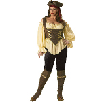 Rustic Pirate Lady Elite Collection Adult Plus Costume 100-152047
