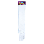 Elbow Length Nylon Gloves (White) 100-148649
