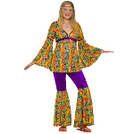 Purple Haze Hippie Teen Costume 100-152260