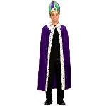 Mardi Gras King Robe & Crown Adult Costume Kit 100-152329