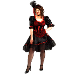 Saloon Girl Adult Plus Costume 100-152357