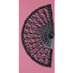 "Lace Fan 9"" (Black) 100-102192"