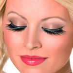 Eyelashes with Black Crystals 100-157346