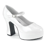 Mary Jane (White) Adult Shoes - Wide Width 100-177736