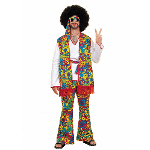 Hippie Man Adult Plus Costume 100-100293