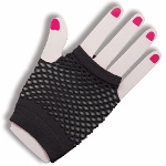 80's Black Short Fishnet Adult Gloves 100-179647