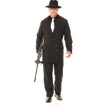 Gangster Double Breasted Suit (Black/Red) Adult Costume 100-180422