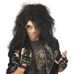 Heavy Metal Rocker Black Adult Wig 100-179052