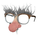 Geezer Nose Hair Glasses 100-180699