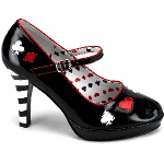 Sexy Queen of Hearts Adult Shoes 100-179880
