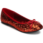 Red Glitter Star Flat Adult Shoes 100-179929