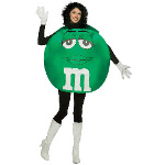 M&Ms Green Poncho Adult Costume 100-178822