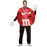M&Ms Red Poncho Adult Costume 100-178823