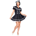 Pin-up Captain Adult Plus Costume 100-185164