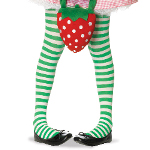 Green/White Striped Tights Child 100-156565