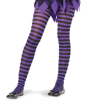 Black/Purple Striped Tights Child 100-181162