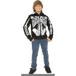 Skeleton Sweatshirt Hoodie Child Costume 100-181855