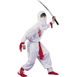 White Ninja Deluxe Child Costume 100-104749