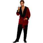 Playboy Men's Smoking Jacket Adult Plus Costume 100-186716