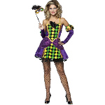 Mardi Gras Queen Adult Costume 100-187181