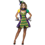 Mardi Gras Jester Woman Adult Costume 100-187183