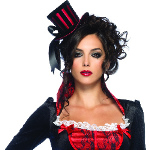 Deluxe Mini Top Hat (Red/Black) Adult 100-187692