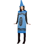 Crayola Blue Crayon Adult Costume 100-188530